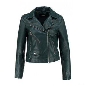 Motorcycle Moto Biker Vegan Faux Leather Jacket